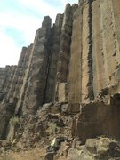 Rock Climbing Photo: This chimney is the route. Don't confuse it for th...