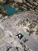 Rock Climbing Photo: Amy Ness following P3 on Dark Star