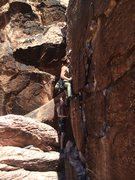 Rock Climbing Photo: Thin lower section.