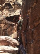 Rock Climbing Photo: Good crimps after first couple moves.