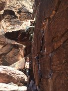 Rock Climbing Photo: Clipping the second bolt is truly a wonderful thin...