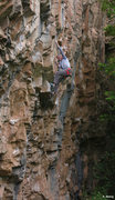 Rock Climbing Photo: Early morning warm-up, Fully Automatic (5.12c).