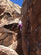 "Rock Climbing Photo: ""Who says I'm too short to reach this?!"""