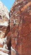 Rock Climbing Photo: Jeremy cheating again; long legs just aren't fair.