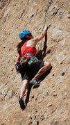 """Rock Climbing Photo: Pulling through the crux of """"Itsy Bitsy Spide..."""