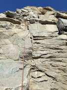 Rock Climbing Photo: Front View of the route lead to the top.