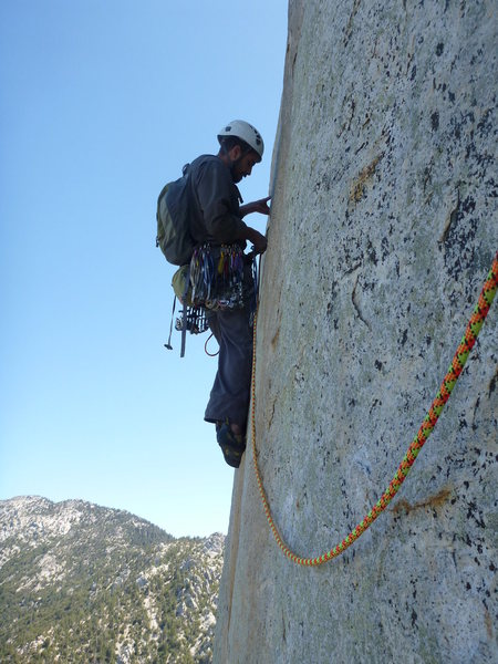 Rock Climbing Photo: Just after the opening crux on P2.