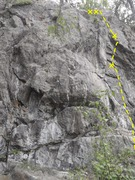 Rock Climbing Photo: Naught For All climbs the two bolt route on the ri...