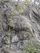 Rock Climbing Photo: All For Naught climbs the middle section of rock i...