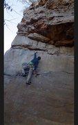 Rock Climbing Photo: crux move route
