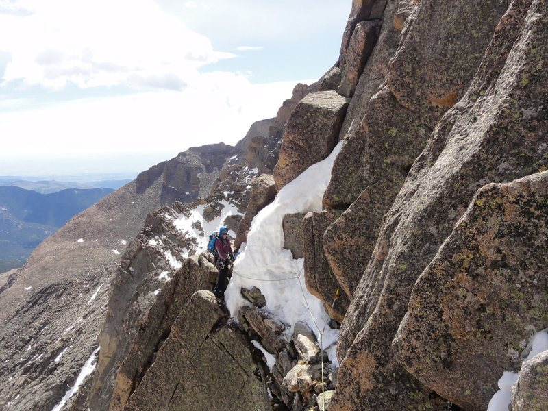 """About to get to the """"boulder"""" move on Broadway en route to the notch, June 15th, 2014."""