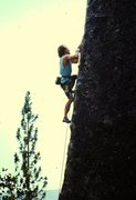 Rock Climbing Photo: Beast of Burden climbing in 1987 (on-sight, ground...