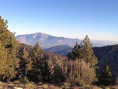 Rock Climbing Photo: San Jacinto Peak from the flanks of San Gorgonio