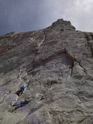 Rock Climbing Photo: BFK heading up P1.