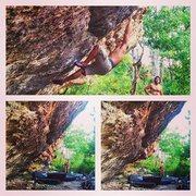Rock Climbing Photo: Siege Tactics V6 at Mckinney Falls