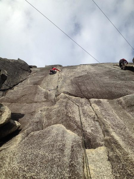 Rock Climbing Photo: Partner on Flying Circus 10a, smoke bluffs, squami...