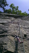 Rock Climbing Photo: P2 RMC: this is a view of the pro trail starting a...