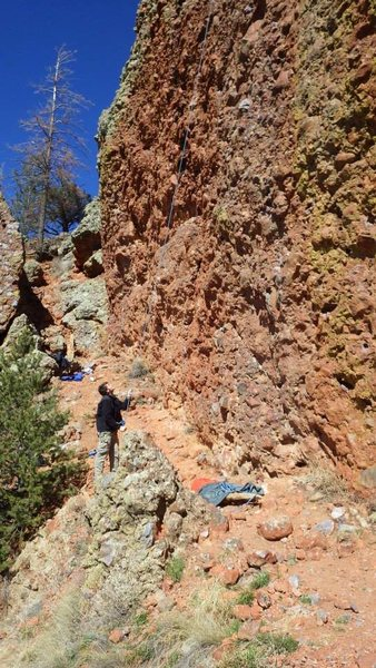 Rock Climbing Photo: looking at the balcony from the south. you can jus...
