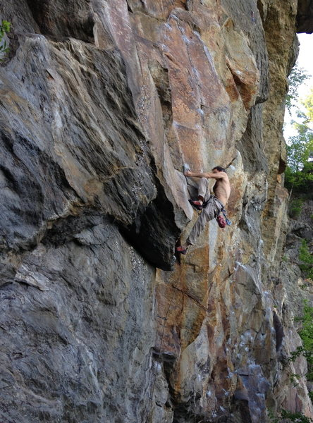 Rock Climbing Photo: Alan Goodrich on Rap Echo slab weirdness