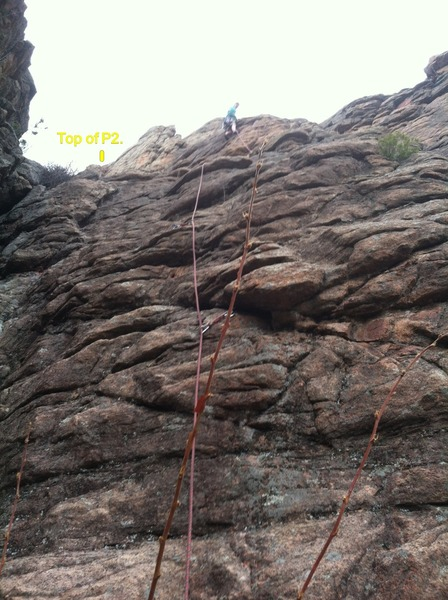 Rock Climbing Photo: Likely route, at least where we went in April.