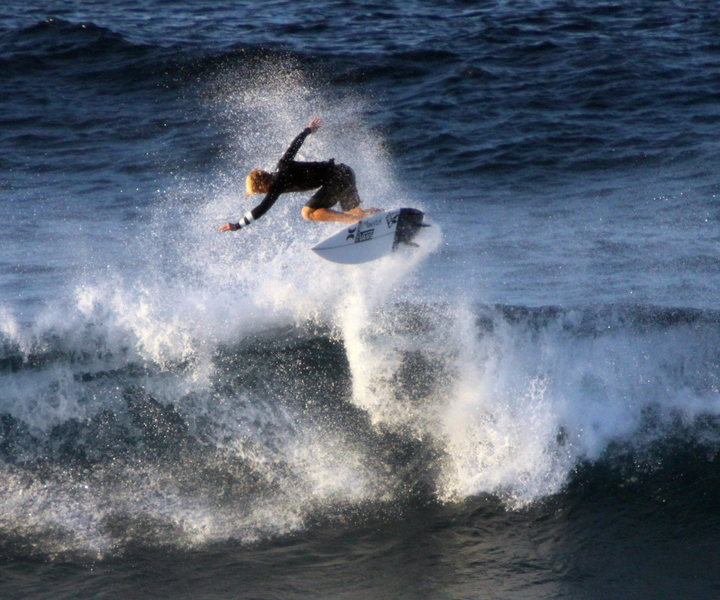 John John Florence at Lanes 1/14<br> Photo&quot; Olaf Mitchell