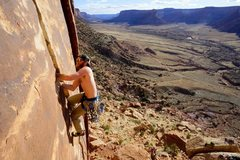 Rock Climbing Photo: Blue Sun, Indian Creek.