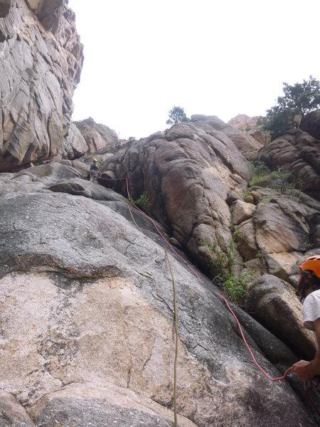 Rock Climbing Photo: Start of P1.