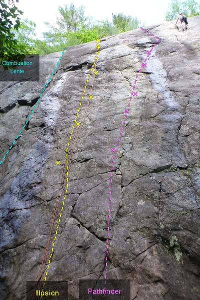 Rock Climbing Photo: Combustion Lente Illusion Pathfinder (wet)