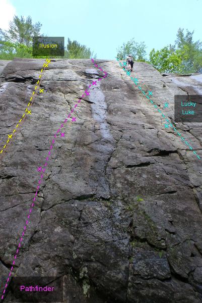 Rock Climbing Photo: Illusion Pathfinder Lucky Luke