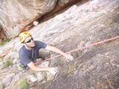 Rock Climbing Photo: Randall on P2.