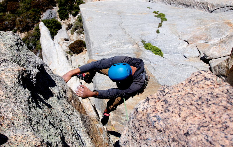 Rock Climbing Photo: Pulling the horn.