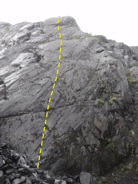 Slip and Slide climbs left of the arete.