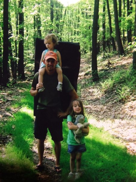 Ray, Cali, & Cady Weber out for a day of bouldering at Coopers Rock!!! June 2009