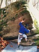 "Rock Climbing Photo: Cali Weber FA of ""Cali's Corner V fun!!""..."