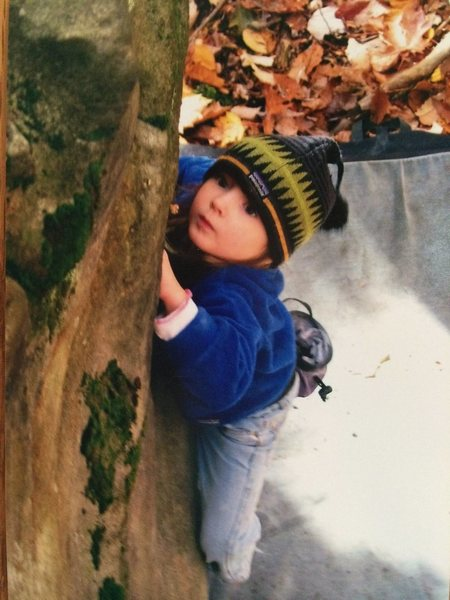 Rock Climbing Photo: The focus of a 5 year old...Cali Weber sends at th...