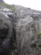 Rock Climbing Photo: This is the starting pitch of Slippery When Wet.