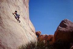 Rock Climbing Photo: Climbing this route (name unknown to us at the tim...