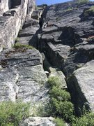 Rock Climbing Photo: Looking at route from base
