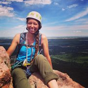 Rock Climbing Photo: Me Lauren waiting for out turn to traverse to the ...