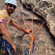 Rock Climbing Photo: Derek builds anchors.