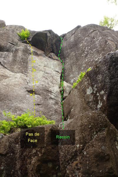 Rock Climbing Photo: 697 Pas de Face Le Recoin