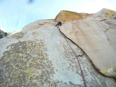 Rock Climbing Photo: Ian Harris on the first pitch