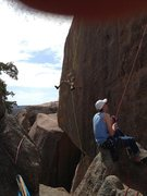 Rock Climbing Photo: Lowering a climber on Solo while my buddy raps in ...