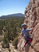 Rock Climbing Photo: Kat Tarculas on Golden Poodle