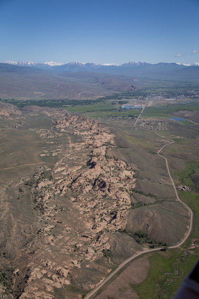Aerial view of Hartman's.<br> <br> Photo by Greg Smith, Western State Colorado University.