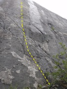 Rock Climbing Photo: Look for the bail link on bolt three to locate thi...