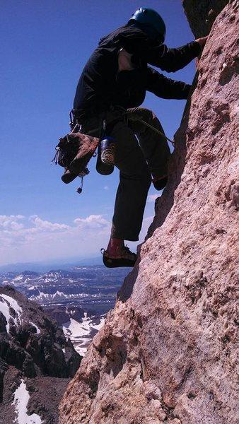 on my way up the Grand Teton