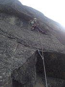Rock Climbing Photo: Pitch 2 start.  (Geoff G)
