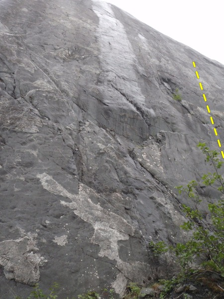 Rock Climbing Photo: This oppen project is locate on the right side of ...