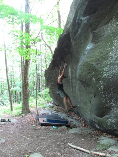 "Rock Climbing Photo: repeating the moves after the FA of ""High Jum..."